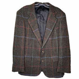 Vintage Rare Polo Ralph Lauren plaid wool blazer